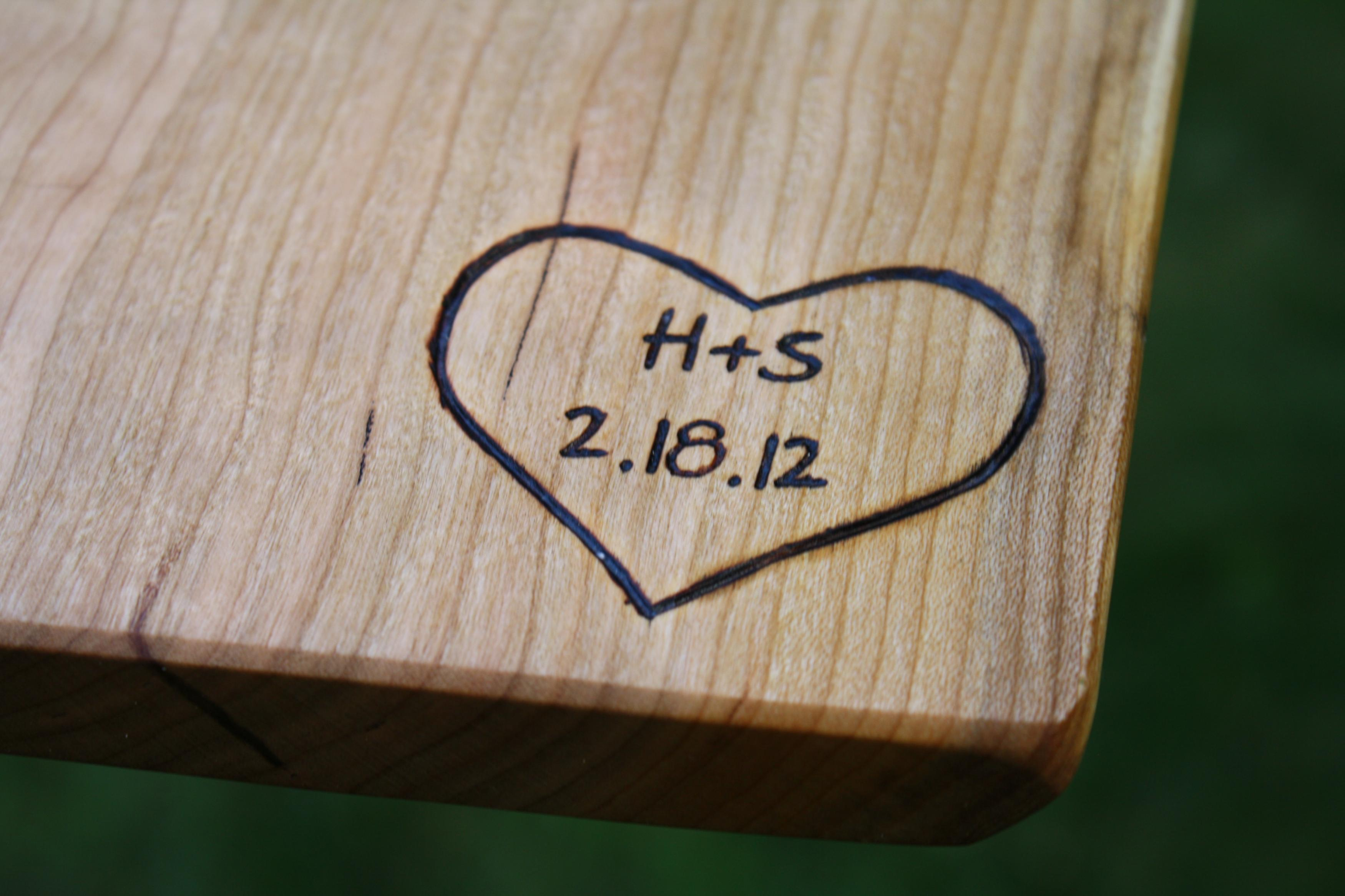 Cutting Board Personalized Engravings - Unique Wedding Gifts - Wood Anniversary Gifts - Personalize on Luulla & Cutting Board Personalized Engravings - Unique Wedding Gifts - Wood ...